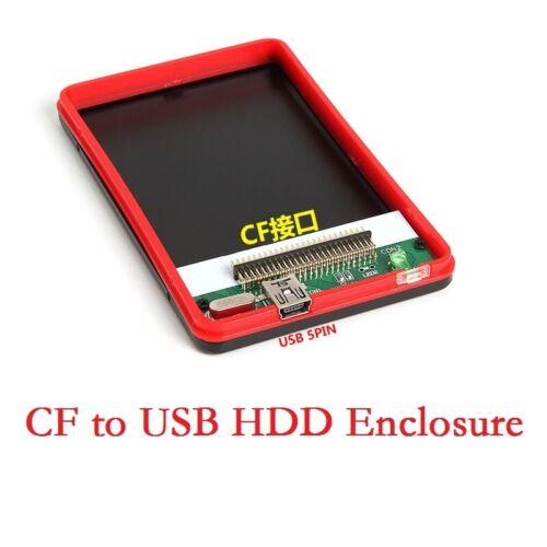 "CF to Mini USB 1.8/""in External Hard Drive Enclosure Case Box 480Mbps"