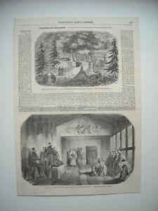 Gravure 1856 Expedition Indo Chine L Amiral Guerin Avec Gouverneur D Hakodadi Ebay