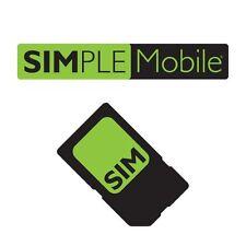 PRELOADED SIMPLE MOBILE NANO SIM CARD w 1st MONTH $40 4GB 4GLTE iPhone 5/5c/6/6s