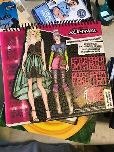Project Runway Fashion Illustration Portfolio Set Design Sketch Sheets Stencil 9899999743927 Ebay