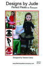 Pleated Dress Doll Clothes Sewing Pattern Ellowyne Wilde, Tonner