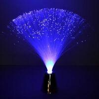 Blue Fiber Optic Battery Operated Led Flower Lamp Chrome Base