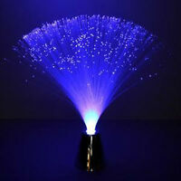 Blue Fiber Optic Battery Operated Led Flower Lamp Chrome Base