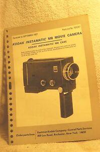 kodak instamatic m8 movie camera parts manual ebay rh ebay co uk
