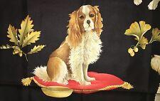 NWOT  Beautiful SALVATORE FERRAGAMO dog spaniel scarf 100% SILK ITALY foulard