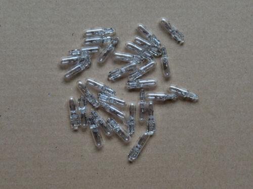 30 Ampoules Base de Verre Socle D/'Enfichage Tableau de Bord 12v 2w T5 W2x4,