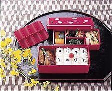 Japanese Traditional Rabbit Blossom Bento Box Set Square 2 Tier Bento Box Bag