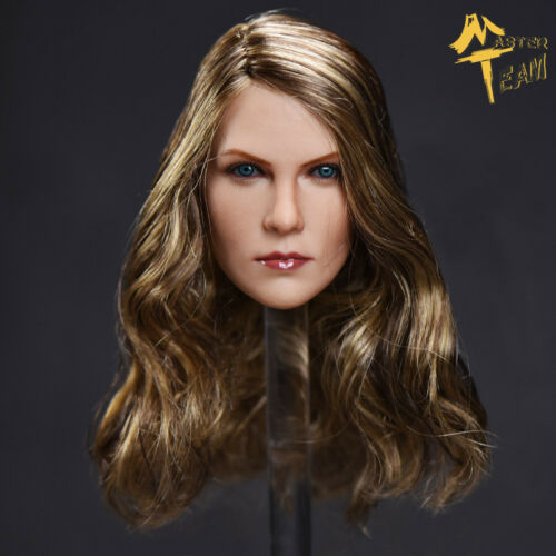 MT 1:6 Brown Curls Charlize Theron Head F Carving Female Head Model 12/'/' Figure