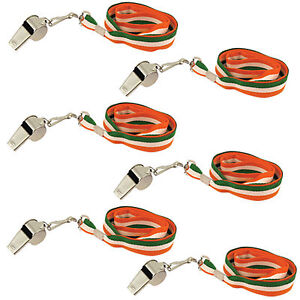 St-Patrick-039-s-Day-Set-of-6-Whistles-on-Lanyard-Party-Dress-Up