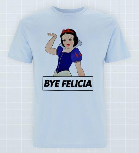 Bye Felicia Neige T-shirt Blanc Princess Fairy Tales Pride Slogan Tee