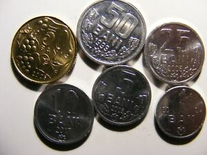 Moldova - 6 Different Uncirculated Coins