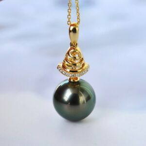 10-5-11mm-Tahitian-Seawater-Top-peacock-Black-Pearl-18K-Gold-Diamond-Pendant-15