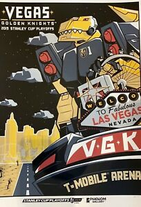 Details about #14/300 Vegas Golden Knights 2019 First Round Stanley Cup  Playoff Serigraph
