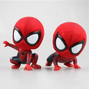 Marvel-Spider-Man-Q-Version-Mini-Figures-Toys-Car-Home-Decoration-Doll-Model