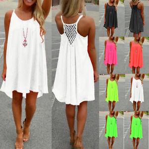Women-Beach-Dress-Bikini-Cover-Up-Kaftan-Holiday-Sleeveless-Long-Long-Tops-Dress