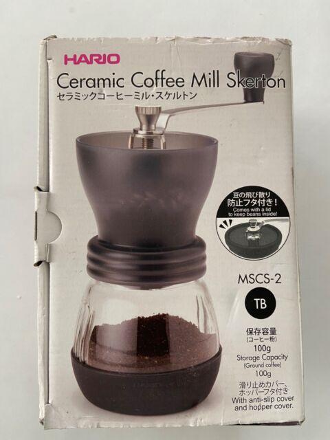"Hario Ceramic Coffee Mill ""Skerton Plus"" MSCS-2TB Manual Hand Grinder - NEW for sale online"
