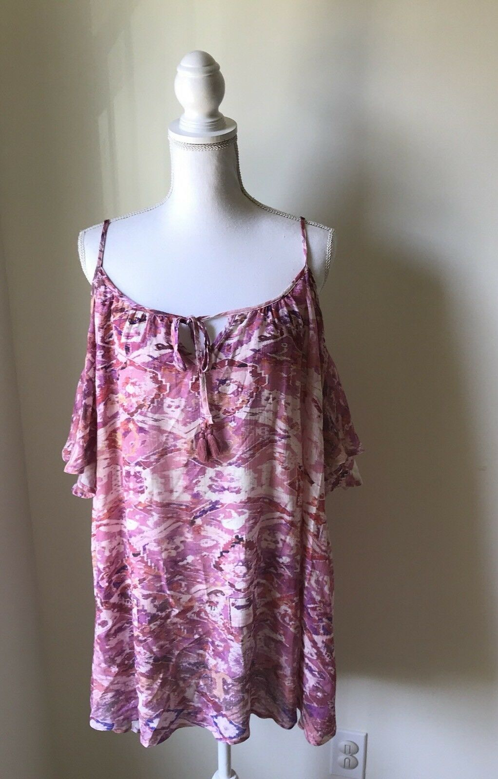 135b2998 Show Me Your MUMU Dress Women's Size M Top NWT Pink Cold Shoulder ...