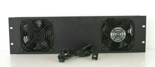 Middle Atlantic 3U 2 Quiet Fan Panel Assembly For Exhaust Or Intake