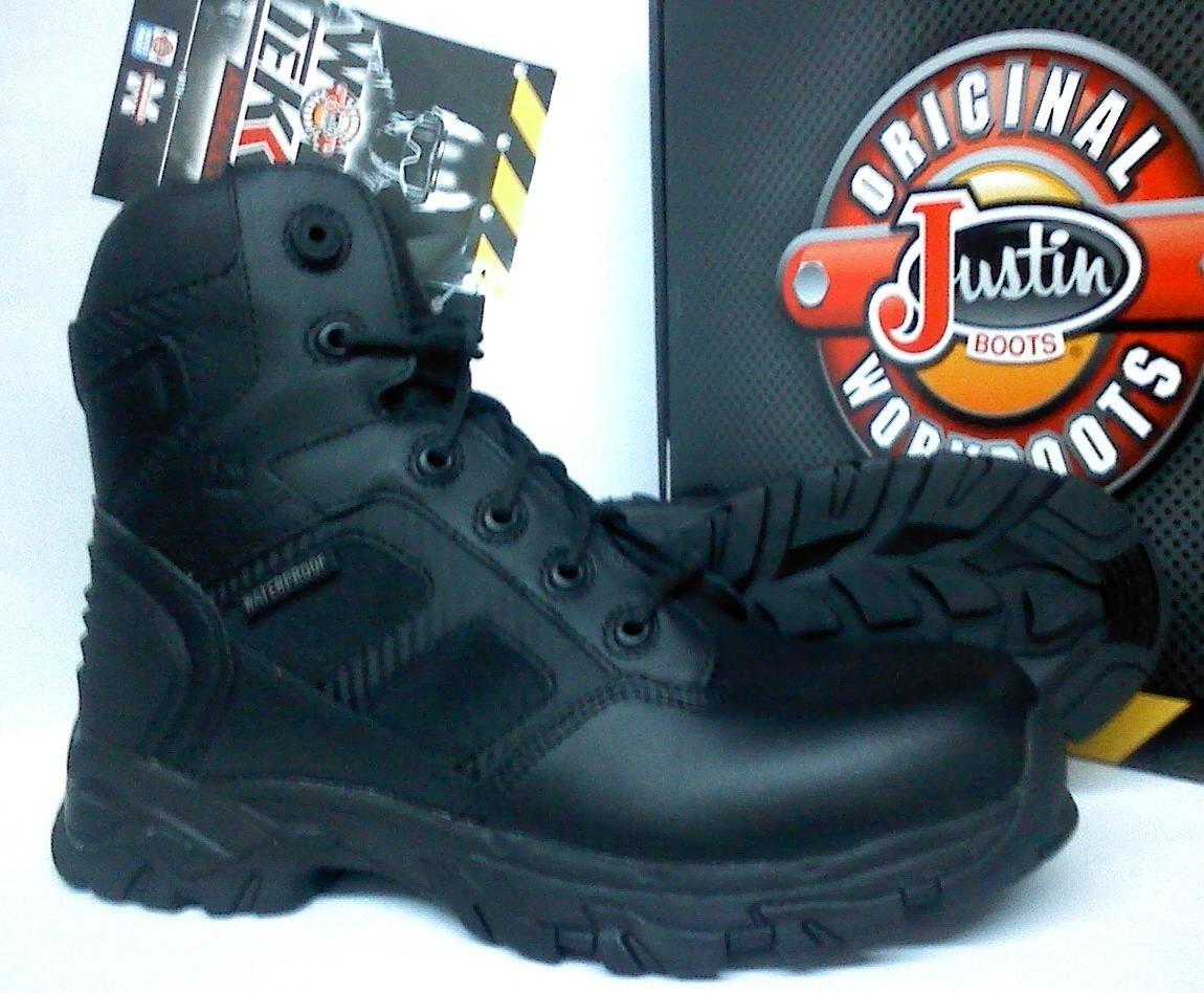 Justin Work Tek Assault Tactical/Work Boots - J Flex Waterproof Leather - WK110