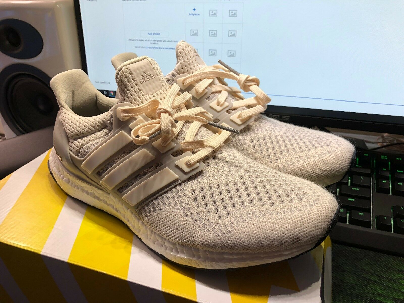 DS NEW Adidas Ultra Boost 1.0 Cream Chalk Size Men's 8.5 Limited