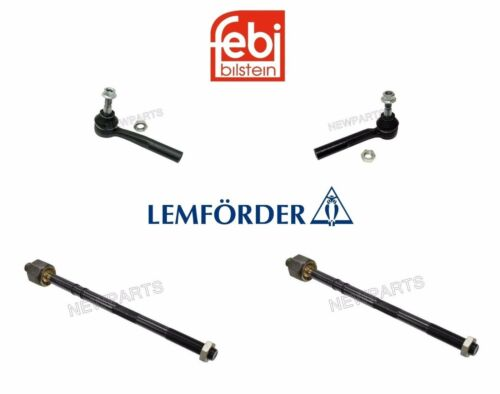 For Saab 9-5 2002-2009 Left /& Right Inner /& Outer Tie Rod Ends 4PCS OEM