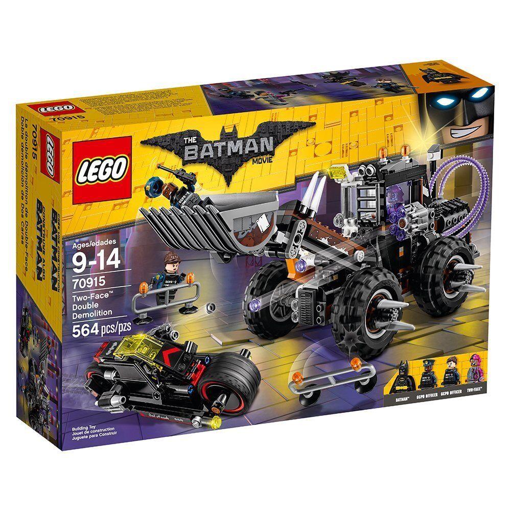 NEW LEGO The Batman Movie Two-Face Double Demolition 70915 Bat Cycle Police NIB