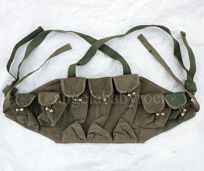 """/""""Knot Tie/"""" Original Chinese Type 56 Semi SKS Chest Rig Ammo Pouch Bandolier RARE"""