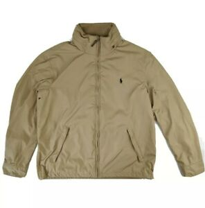 Mens-POLO-by-RALPH-LAUREN-Beige-Jacket-Zip-Coat-size-Large-L-Harrington