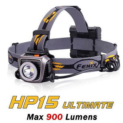 Fenix HP15 Ultimate Edition HP15UE Cree XM-L2 LED 900 Lumens Headlamp Headlight