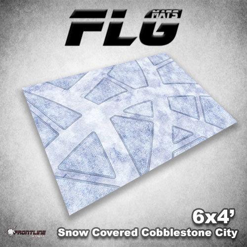 Flg Esteras  Nieve Empedradas City 6x4' de alta calidad Alfombra de juegos de mesa de neopreno