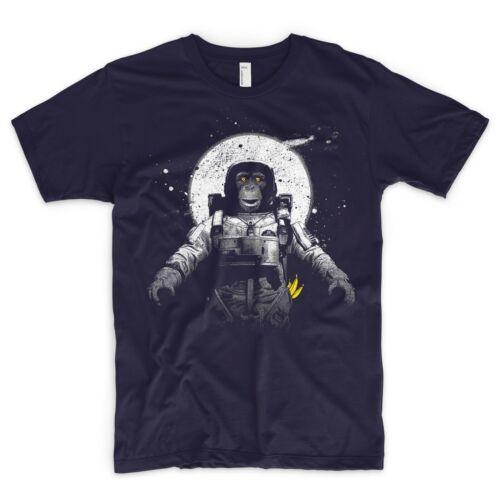 Monkey T Shirt Evolution Galaxy Banana lune spatial SpaceX Stars astronaute NASA