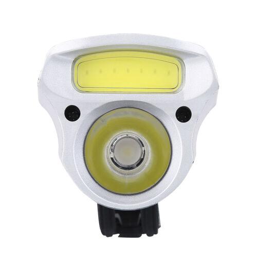 COB T6 LED Front Fahrrad Fahrrad USB wiederaufladbare Scheinwerfer Taschenlampe