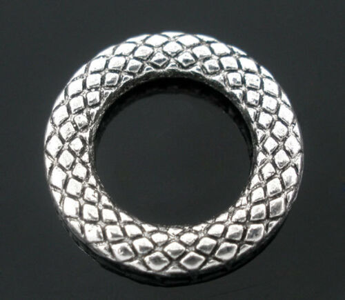 Wholesale Mixed Lots Soldered Closed Jump Rings Silver Tone 14mm Dia.
