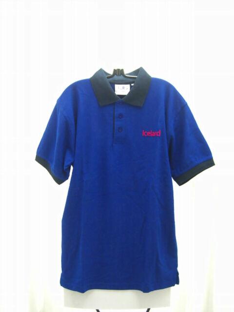 Poloshirt Kurzarm T Shirt Gr S M L in blau Iceland DC Direct Corporate