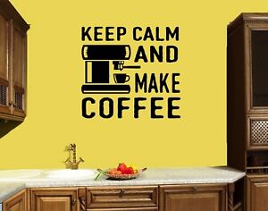 Details about Wall Decal Coffee Tea Kitchen Decor Cafe Words Phrase Quote  Vinyl Sticker ed1417