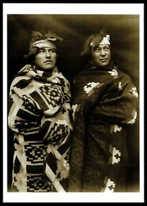 927-Postcard-BROTHERS-Navajo-Indians-Southwest-1915-Roland-Reed-Photo-New