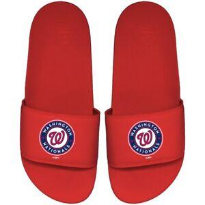 Washington Nationals ISlide Primary Motto Slide Sandals - Red