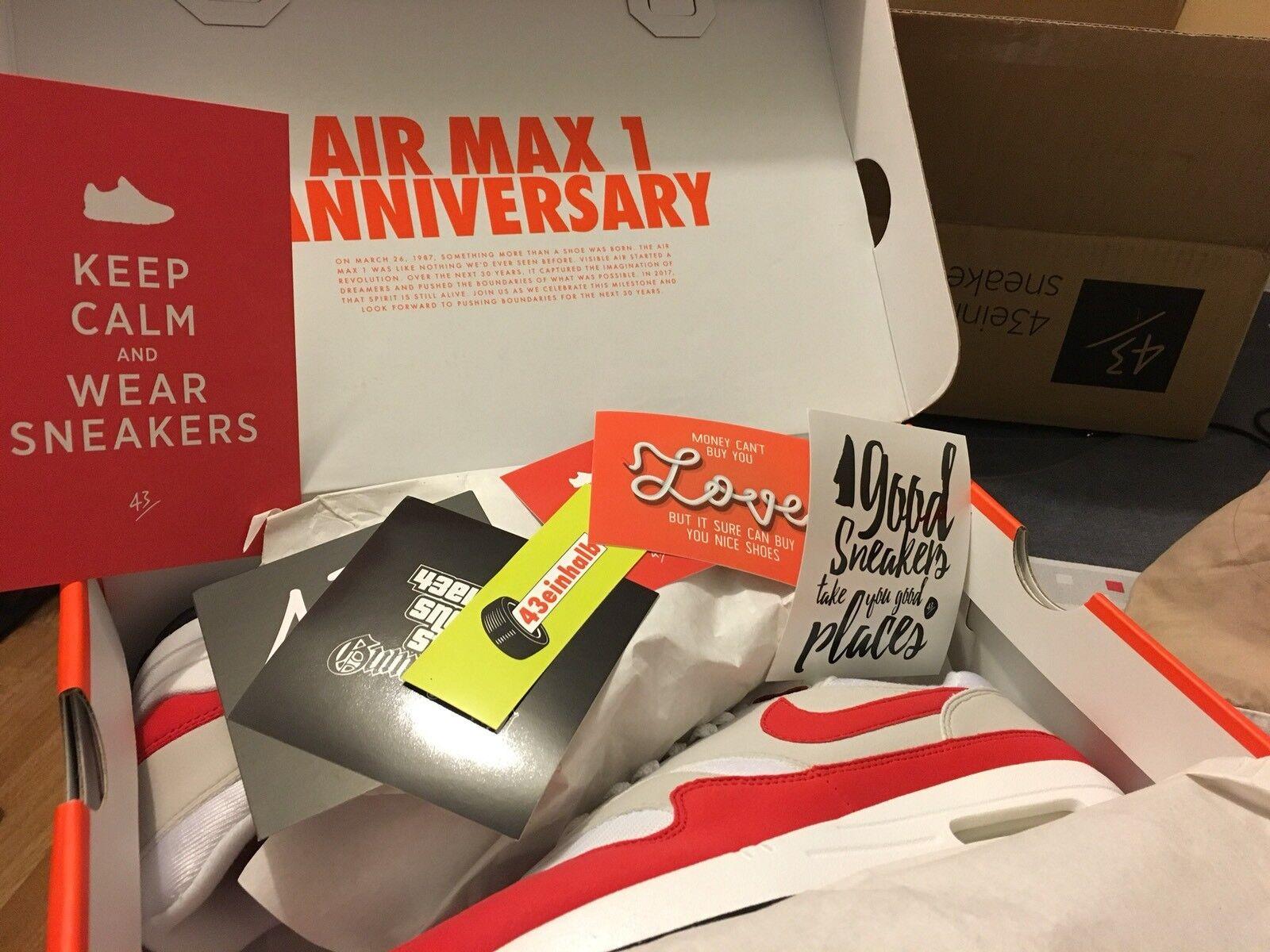 Nike AIR MAX 1 OG ANNIVERSARIO University Rosso /  8/EU41