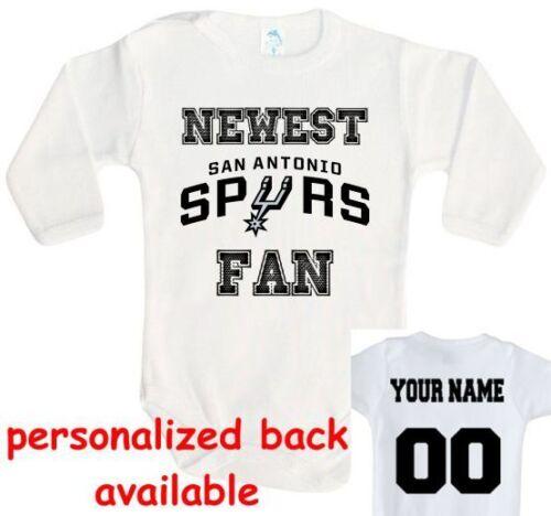 Baby bodysuit Newest fan San Antonio Spurs basketball One Piece jersey