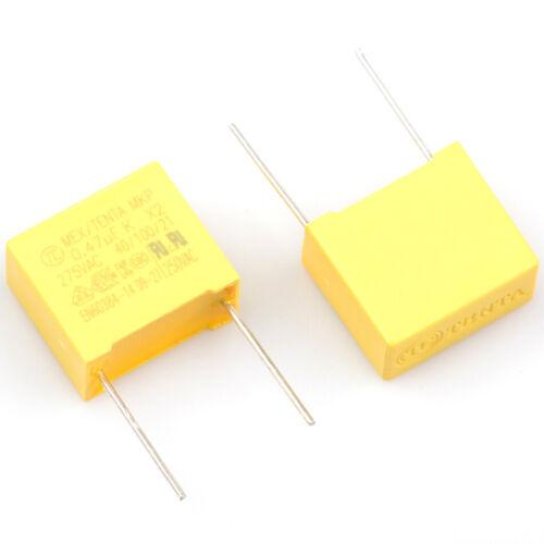 Condensador de seguridad 10PCS X2 0.47UF 275VAC 474K 470NF 275V 15MM paso