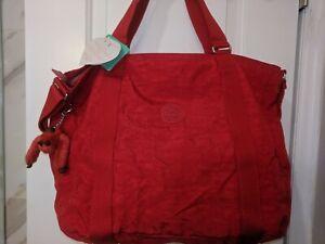 New-NWT-Kipling-Adara-Luggage-adara-Work-Bag-Travel-Crossbody-Red-Tote