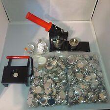 "1-1/4"" Kit TECRE Button Maker Machine, Graphic Punch, 1000 Pin Back Button Parts"