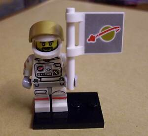 Lego Figur Astronaut Flagge Weltraum Helm Collec Minifig