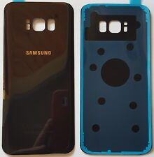 Samsung Galaxy S8 SM-G950F Akkudeckel Backcover Rückseite Glas Midnight Black