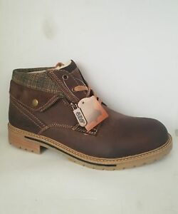Zu 43 amp;ovp Am Gr Neu Herren Company Leder Braun Details Shoe Stiefel Warmfutter 40 Deichmann 34Rj5LA