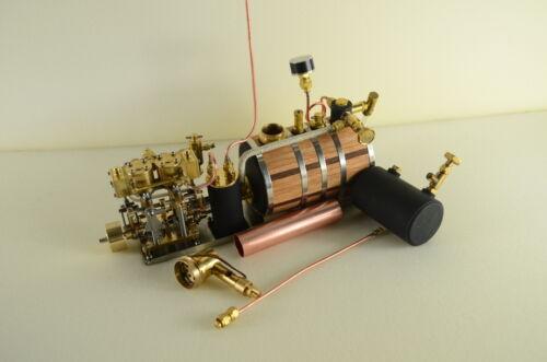 Zwei-Zylinder-Dampfmaschine Live-Dampf mit Boiler