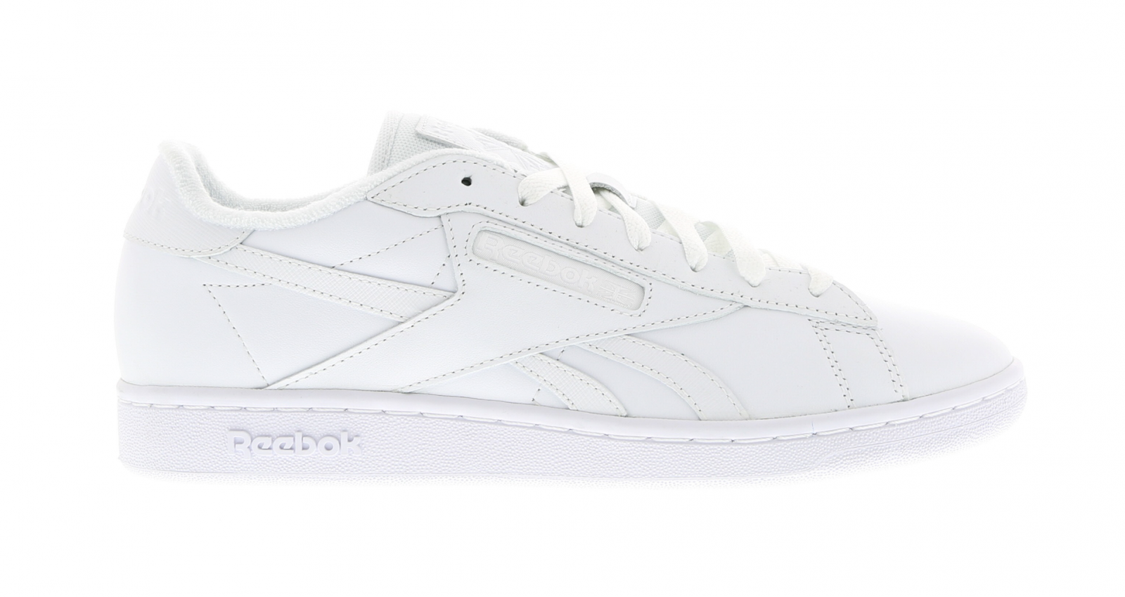 hommes REEBOK NPCTX blanc Leather Trainers BD1213