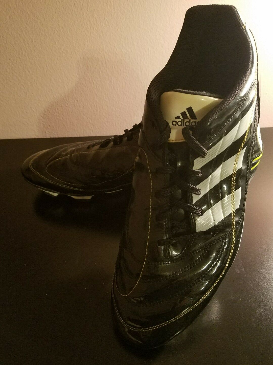 Adidas Men's Black w/White Stripes Cleats Comfortable best-selling model of the brand