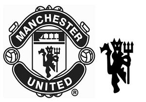 2 Manchester United Logo Vinyl Decal Bumper Sticker