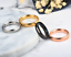 Anello-Anelli-Fede-Fedina-Uomo-Donna-Unisex-Acciaio-Cristallo-Fidanzamento-Love miniatura 5